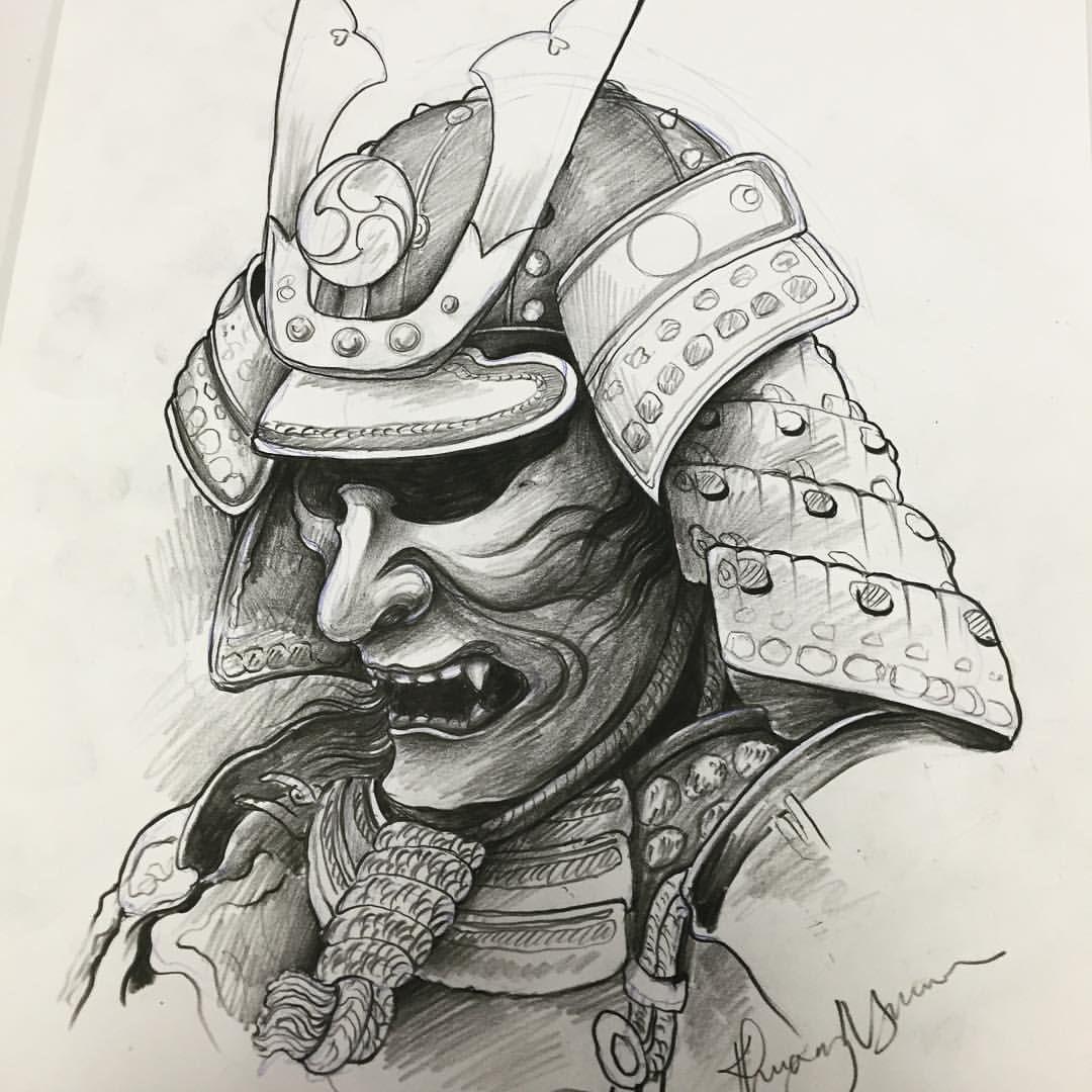 Samuraihelmet Samurai Sketch Samurai Desenho Desenhos Para