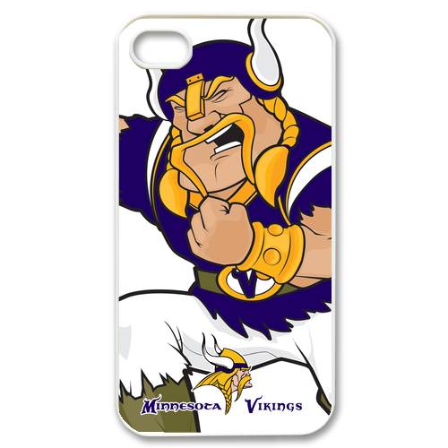 Minnesota Vikings iPhone 4 or 4S Plastic White case cover 01896  $16.99 at #Gejobak mega store on Bonanza
