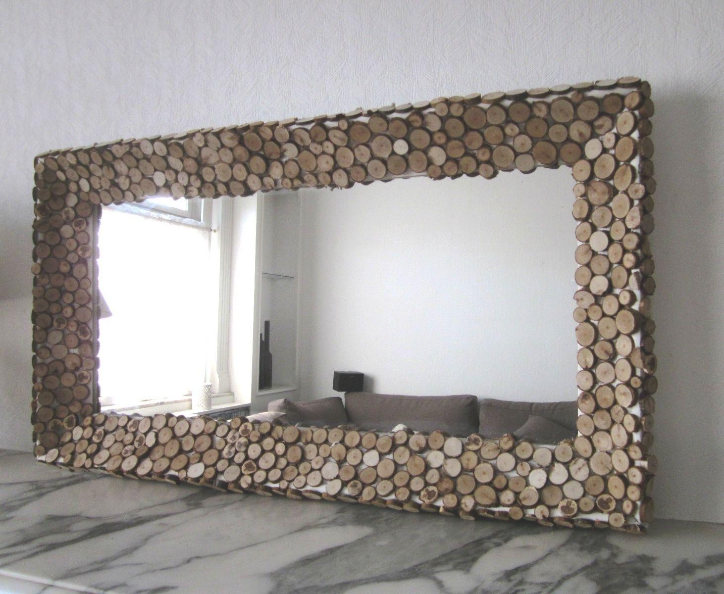 Miroir Fait Main Cadre Rondins De Bois Robinson