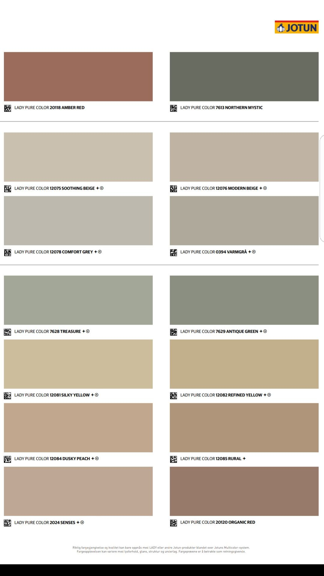 Jotun fargekart 2020. En hyllest til fargene! Nytt fargekart fra LADY 2019-12-31