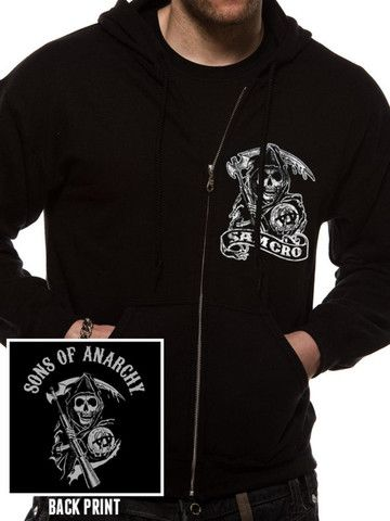 d454427864a Sons Of Anarchy  Reaper Crew  Hoodie (Zipped Black)