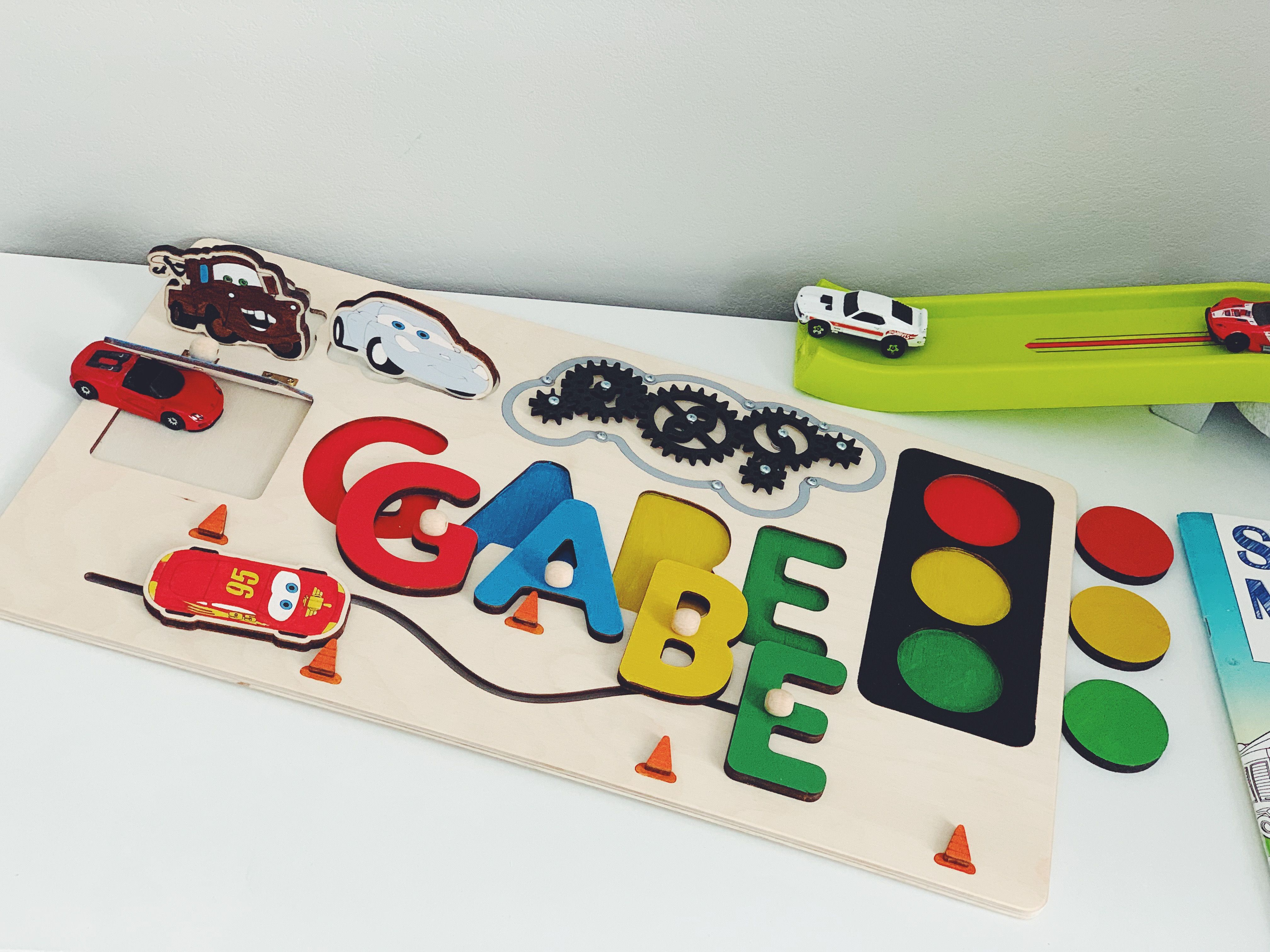 3da5ad5d915c6 Name Puzzle First 1st 2st 3st Birthday Unique Baby Gift Busy Board ...