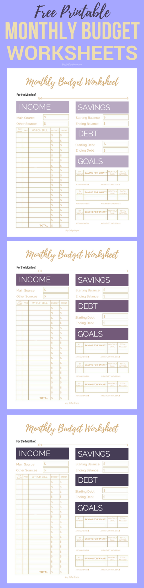fix your finances asap with my free simple monthly budget template