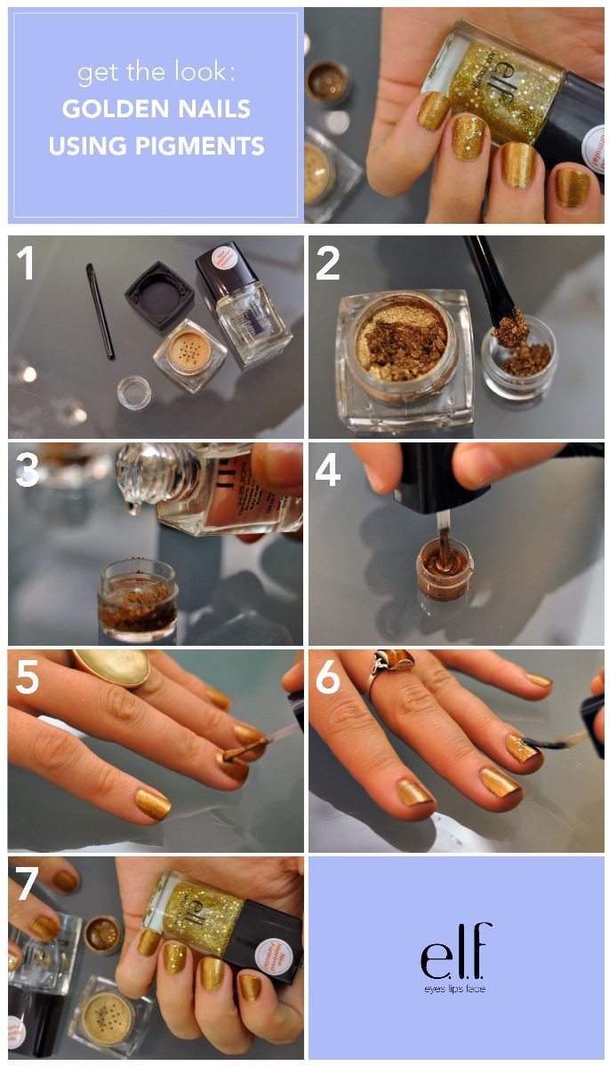 Make Your Own Nail Polish Using Eye Shadow Pigment And Clear Super Easy Must Try