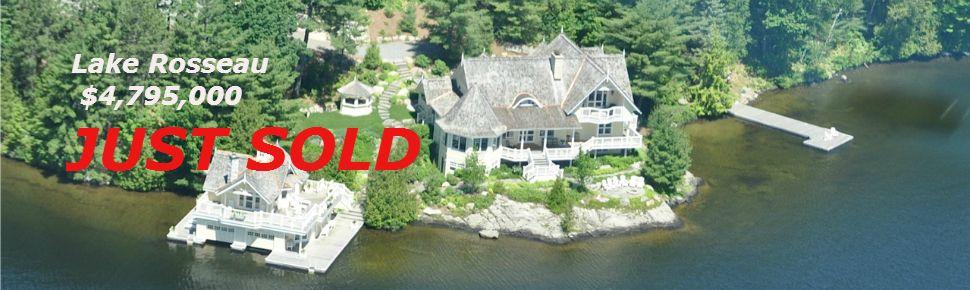 SOLD - luxury cottage on north Lake Rosseeau