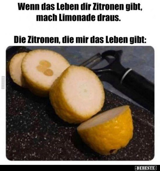 Wenn das Leben dir Zitronen gibt, mach Limonade draus...