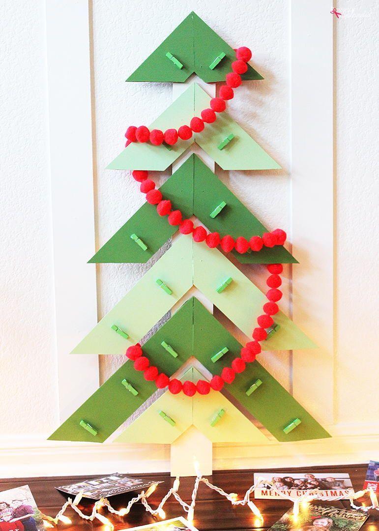 Modern Christmas Tree Diy Card Holder Christmas Tree Card Holder Christmas Card Holder Diy Diy Christmas Cards