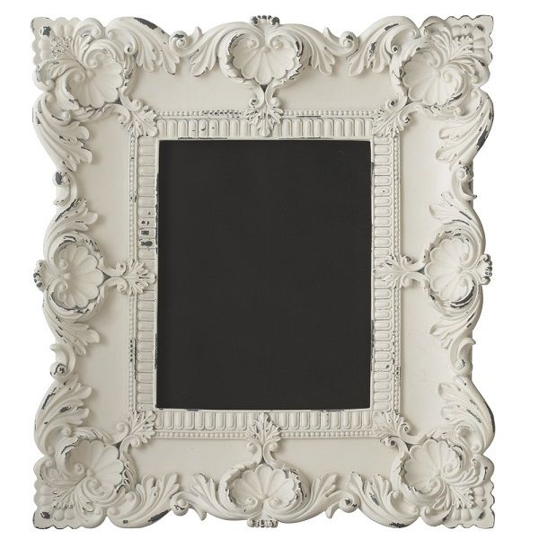 Striking vintage antique Baroque-era frame with a chalk board insert ...