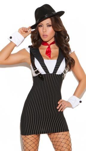 Woman Gangster Costume  sc 1 st  Pinterest & Woman Gangster Costume | Holidays | Pinterest | Gangster costumes ...