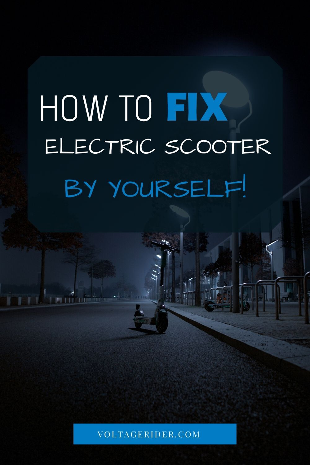 If you're armed with some technical questions about fixing your electric scooter you're at the right place. Here's everything you need to know if you want to repair an electric scooter by yourself! Click through this pin!  #electricscooter #escooter #electricscooters #escooters #fixelectricscooter #fixescooter #escootermaintenance #micromobility #urbanmobility #voltagerider #repairescooter #escoot #electricscootermaintenance