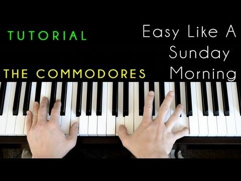 The Commodores Lionel Ritchie Easy Like A Sunday Morning Piano