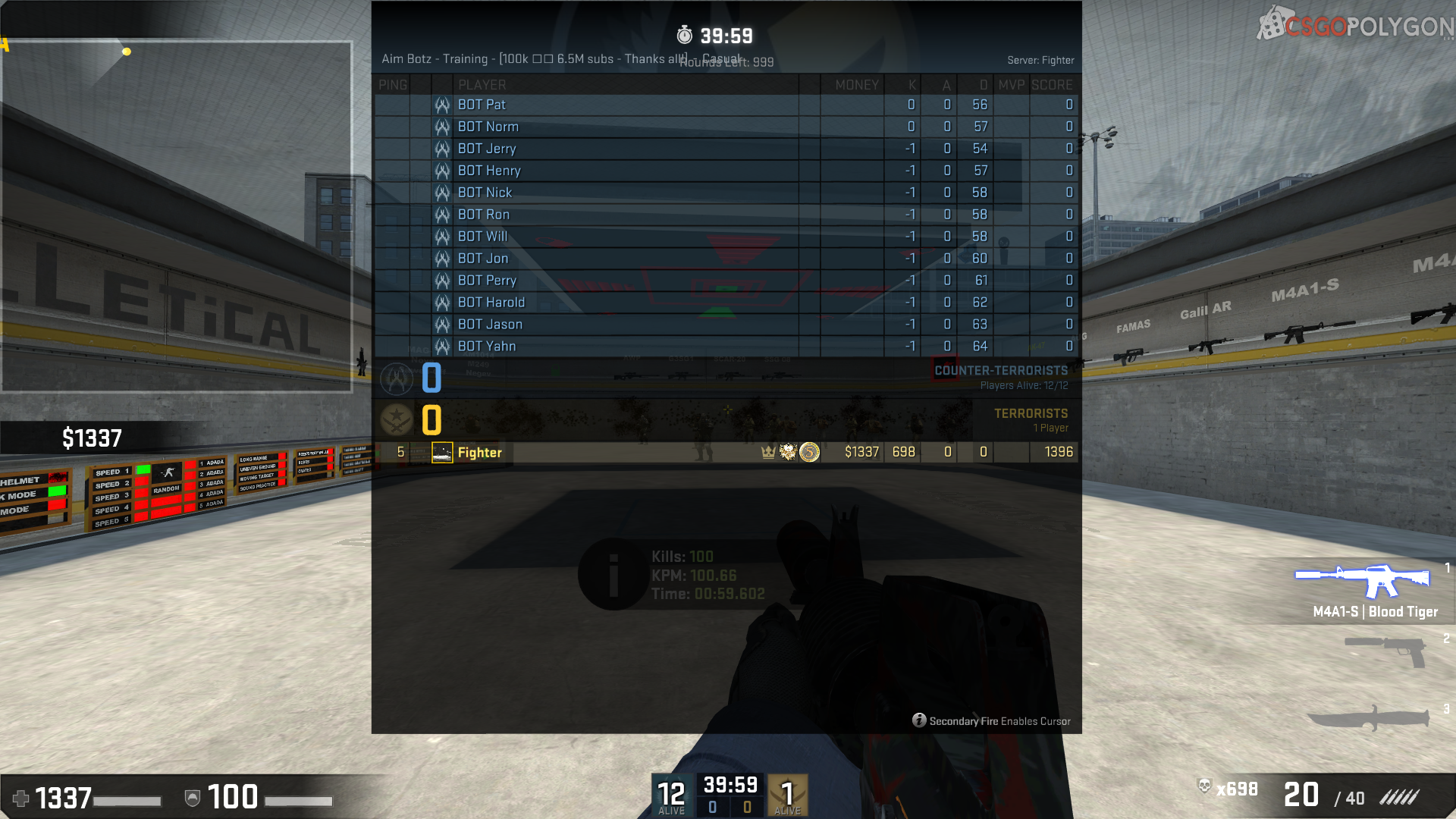 I broke shroud's score in 100 kill aim botz challenge! :) #games