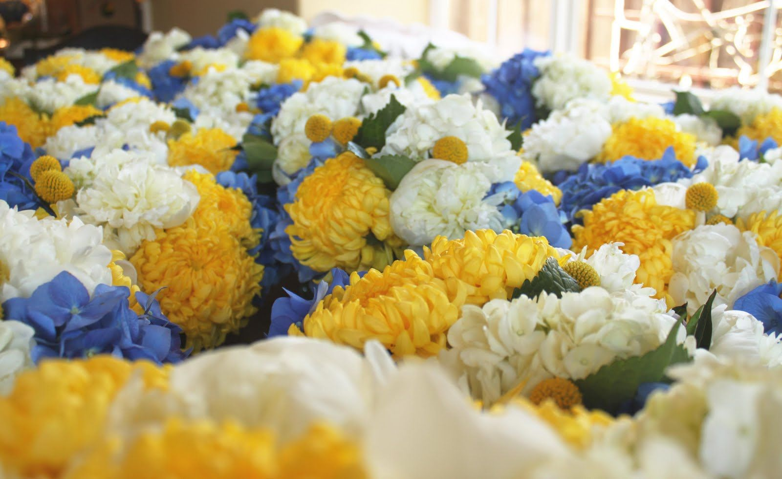 Wedding By Designs Blue And Yellow Flower Wedding Collection