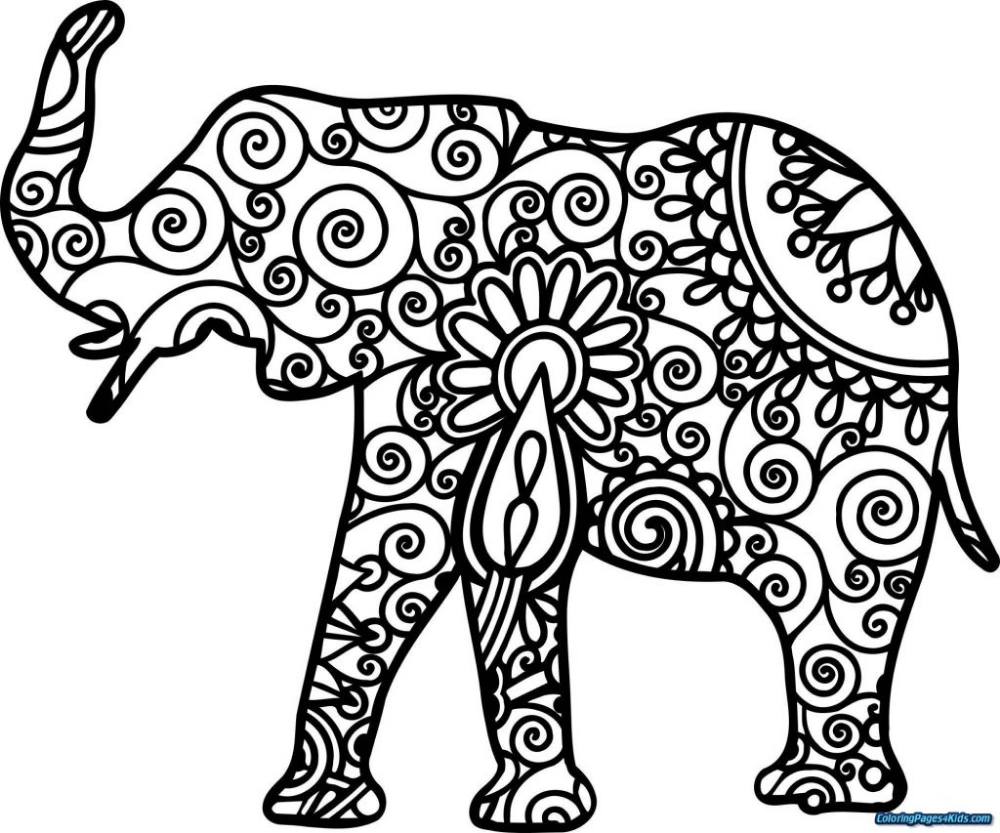 Coloring Books Simple Mandala Coloring Pages Book Of Shadows For Adults Printable Worksheets P Elephant Coloring Page Mandala Coloring Pages Mandala Elephant