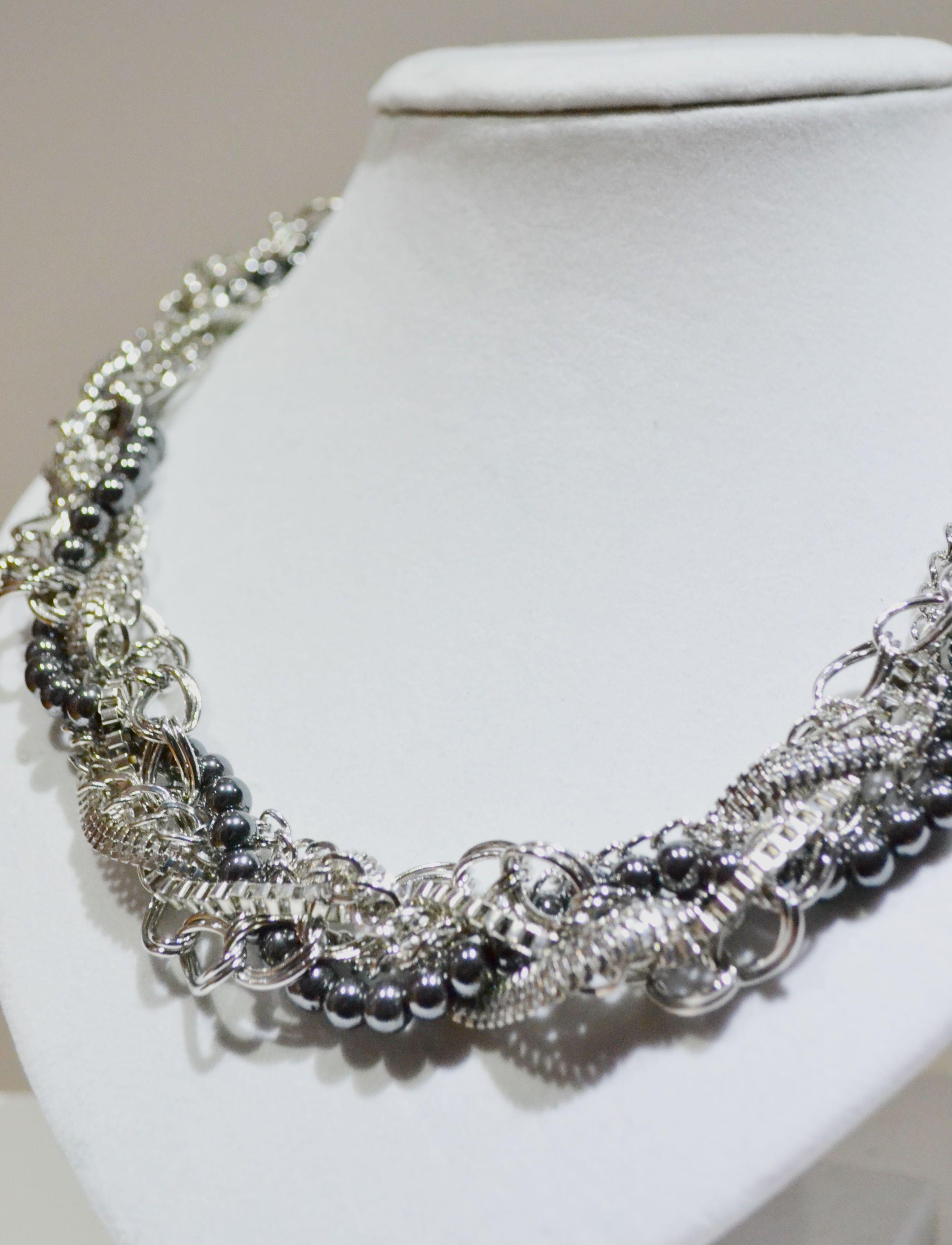 Collar señora statement perlas joyas cadena 4 modelos Design