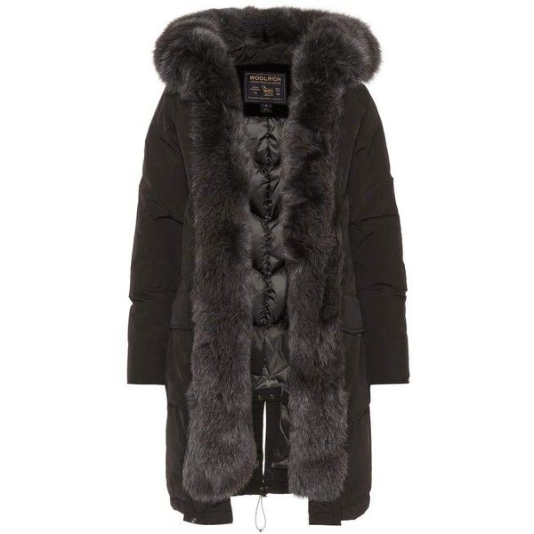 best sneakers bea51 eaa08 Woolrich Military Fur-Trimmed Parka (€1.250) ❤ liked on ...