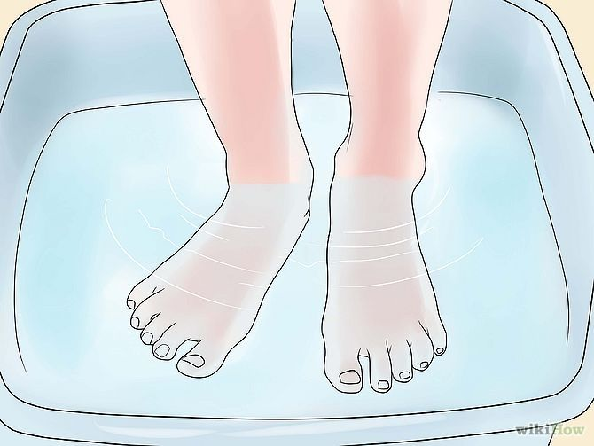 """Remove Dry Skin from Your Feet Using Epsom Salt -- this is a great """"home spa"""" pedi! #selfcare #pampering #Pedicure"""