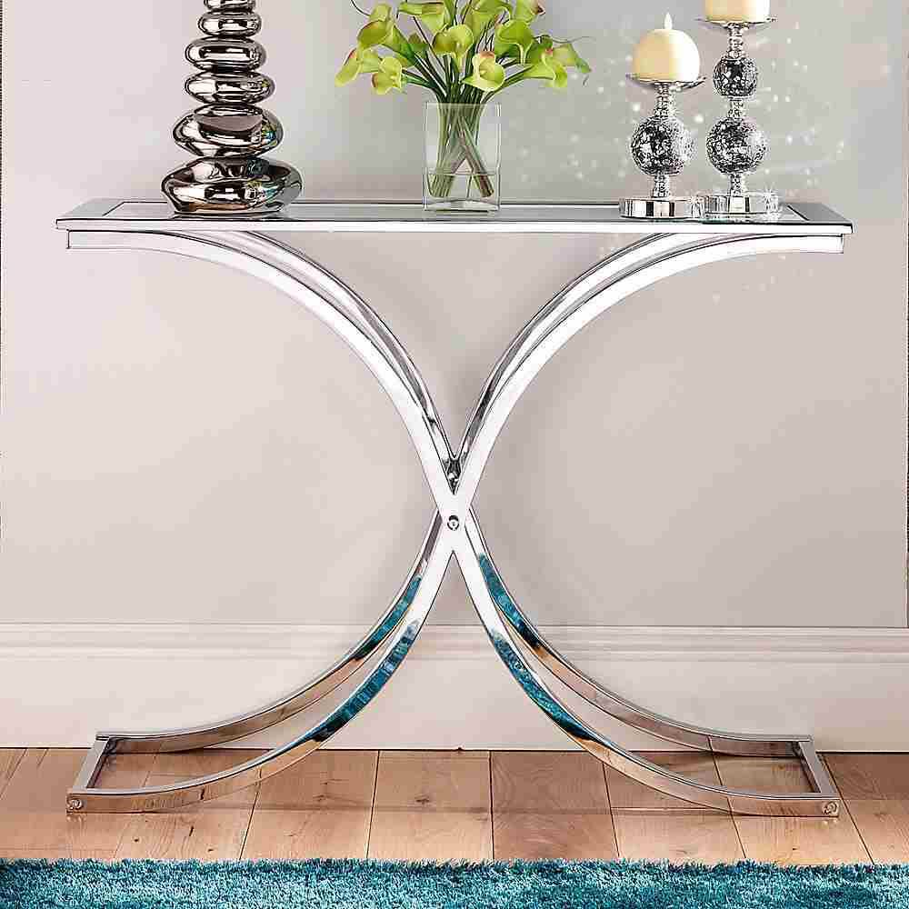 Entry Way Glass Console Table Small Console Tables Glass Hallway Table