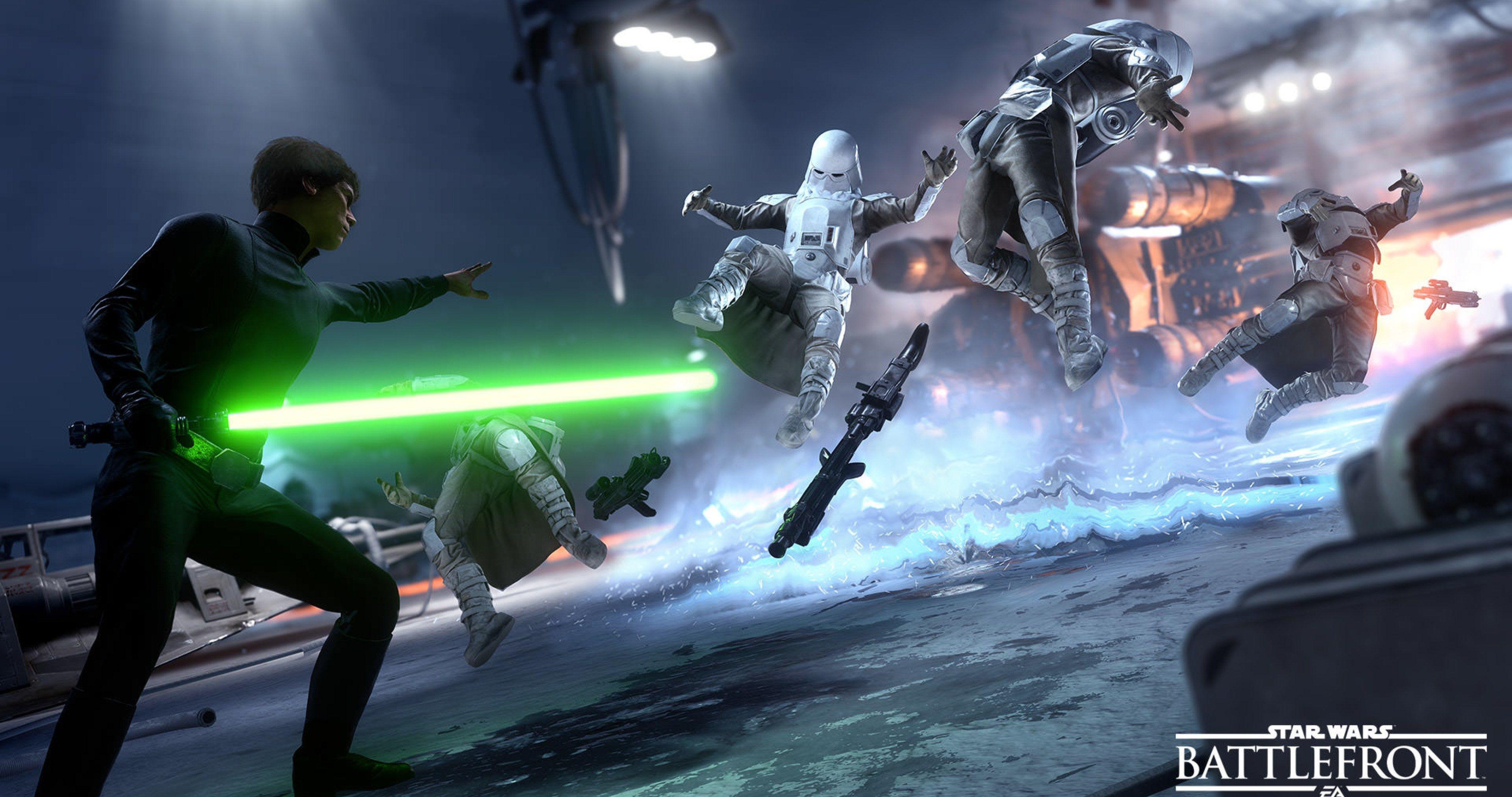 Star Wars Luke Skywalker Force Attack 4k Ultra Hd Wallpaper