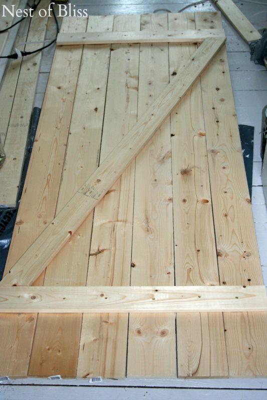 DIY Barn Doors (Nest of Bliss) | Diy barn door, Barn doors and Nest