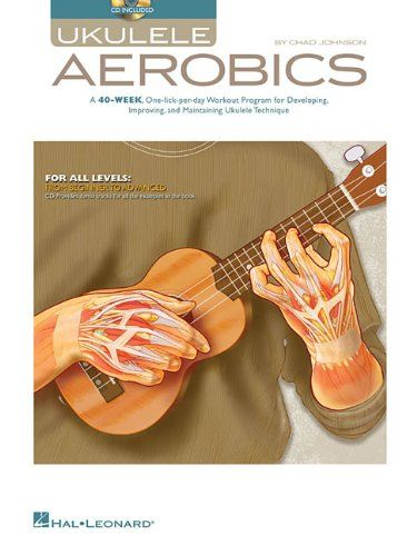 DIY Uke Learning:  Ukulele Aerobics: A 40-Week, One-lick-per-day Workout Program for Developing, Improving, and Maintaining Ukulele Technique is a comprehensive course that introduces everything from moveable chords and flatted fifths to the mysterious 7#9 chord. The succinct, clearly laid-out, daily lessons compose a series of weekly workouts, each focusing on chord vocabulary, strumming techniques, fingerstyle tips, a scale exercise, and pointers on using legato, licks, and riffs.