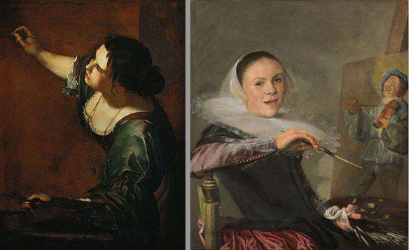 Left Artemisia Gentileschi Self Portrait As The Allegory Of
