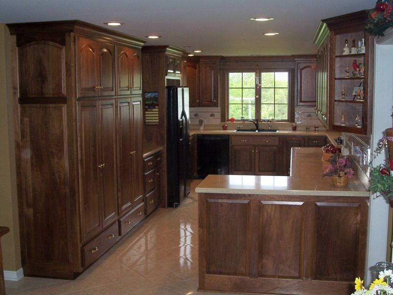Superieur Modern Black Walnut Kitchen Cabinets