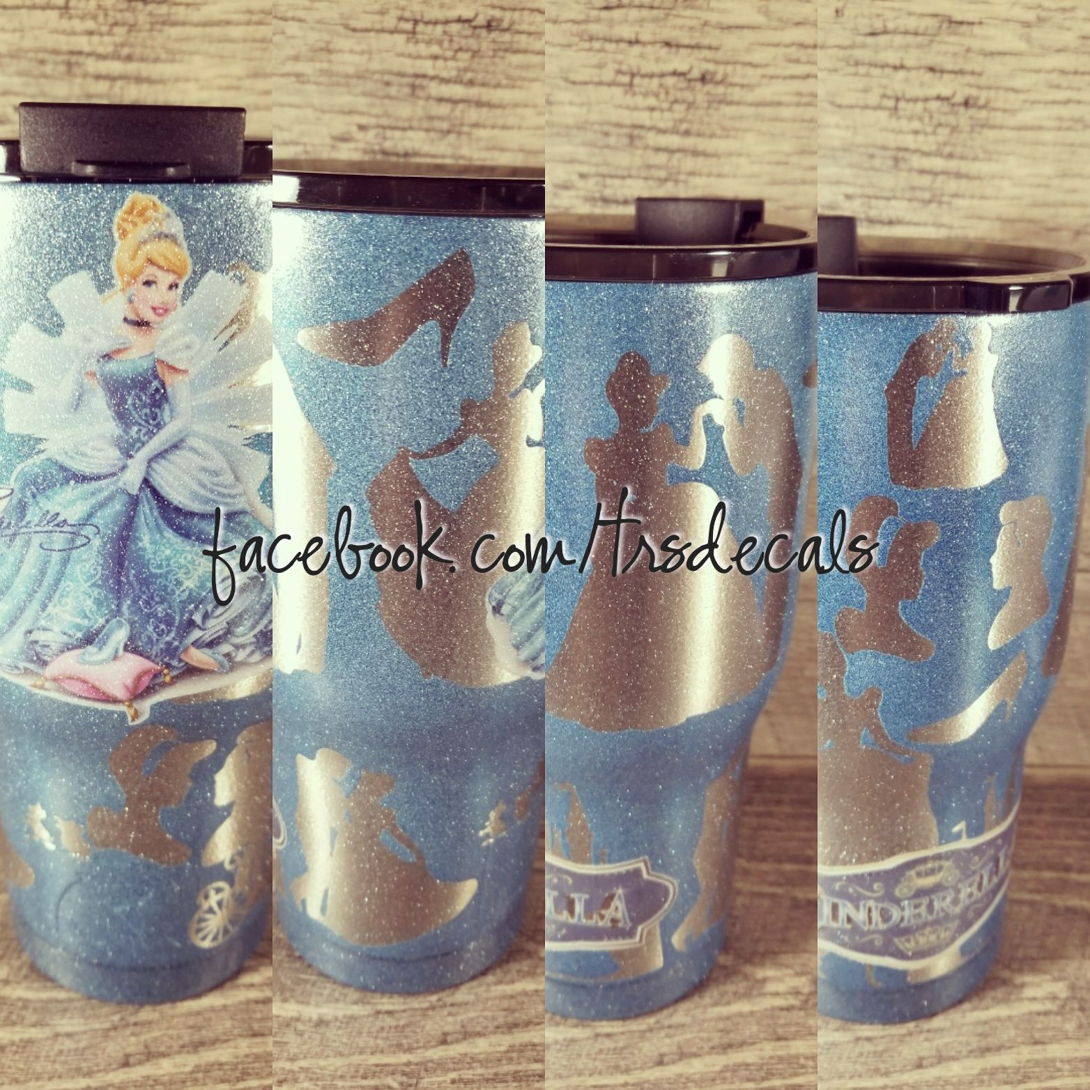 92a66dec8e6 Personalized custom Cinderella yeti/rtic/ozark cup. Custom Cinderella cup.  Stainless steel tumbler cup. Powder coated design.