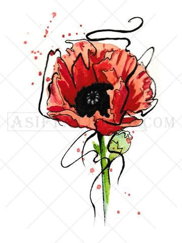 Poppy flower tattoo pinterest flower tattoos black tattoos and a poppy flower tattoo symbolizes sleep or peace and can be used to represent the loss mightylinksfo