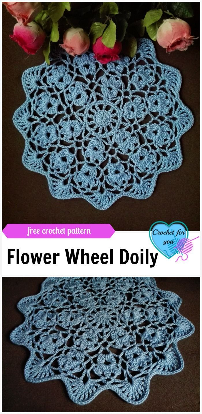 Flower wheel doily free crochet pattern free crochet wheels and flower wheel doily free crochet pattern bankloansurffo Image collections