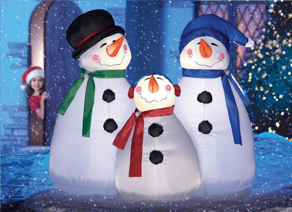 Outdoor Lighted Snowman 36 air blown lighted snowman family trio inflatable christmas yard 36 air blown lighted snowman family trio inflatable christmas yard decor workwithnaturefo