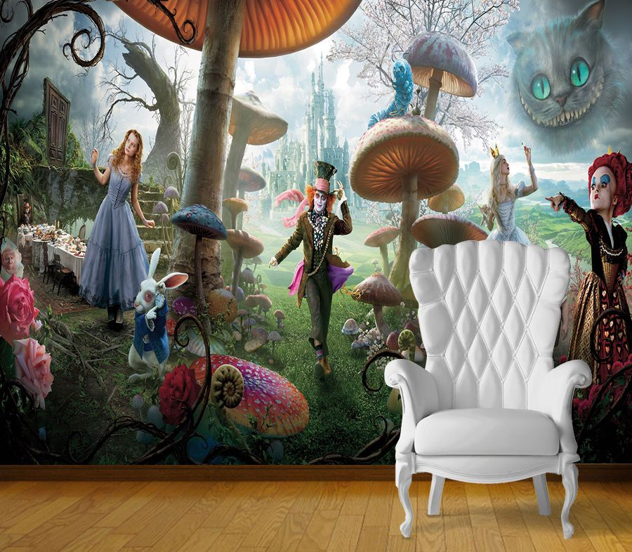 Details about Alice in Wonderland Wall Art Wall Mural Self