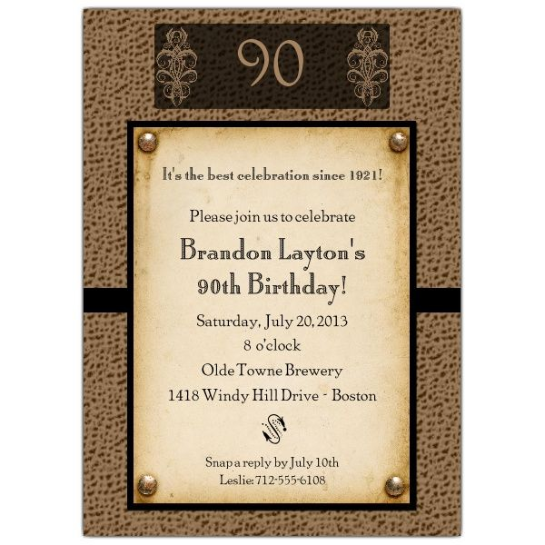 90th Birthday Invitation Wording 90th birthday invitations - birthday invitation templates free word