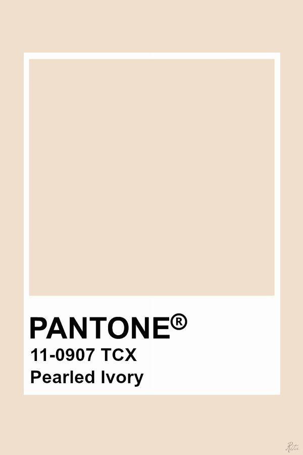Pearled Ivory   Pantone, Pantone color    Pantone colour palettes, Yellow pantone, Pantone green