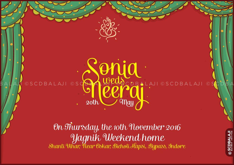 Rajasthan / Marwari - Indian Wedding Invite designed by SCD Balaji