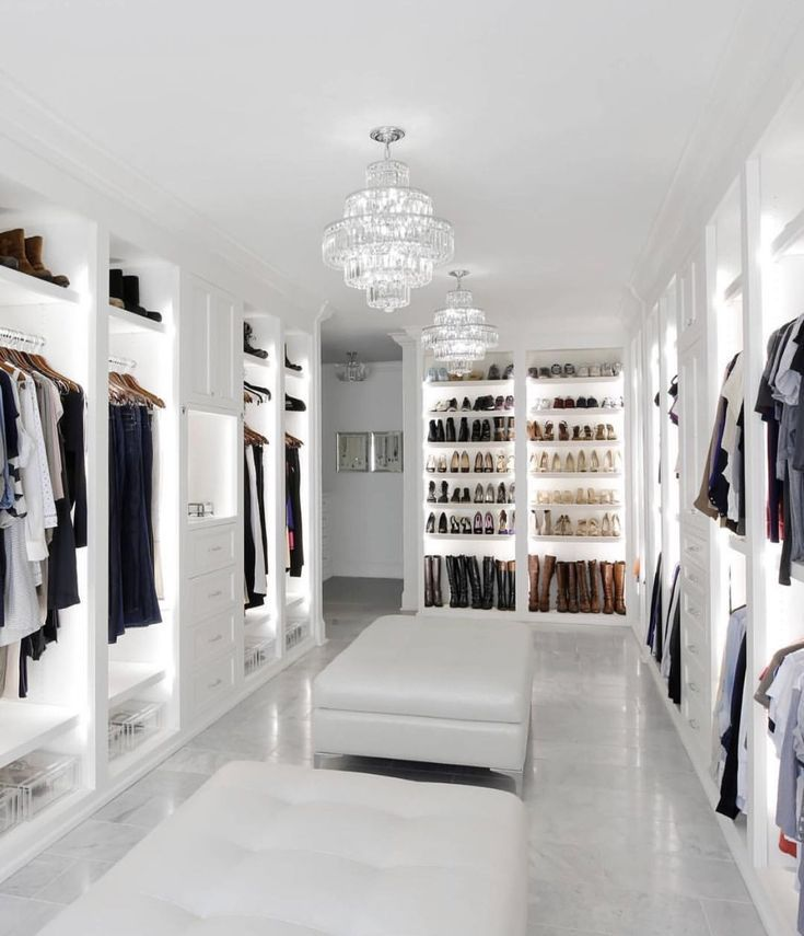 Photo of 20 incredible small walk-in closets – # walk-in #house #clothes …