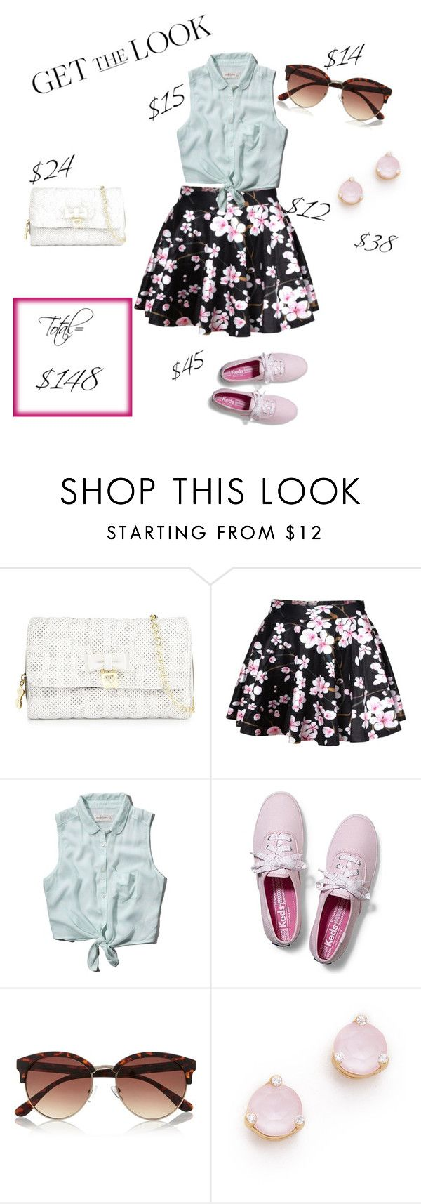 """""""Spring Weekend"""" by jollyme ❤ liked on Polyvore featuring Betsey Johnson, Abercrombie & Fitch, Keds, River Island, Kate Spade and GetTheLook"""