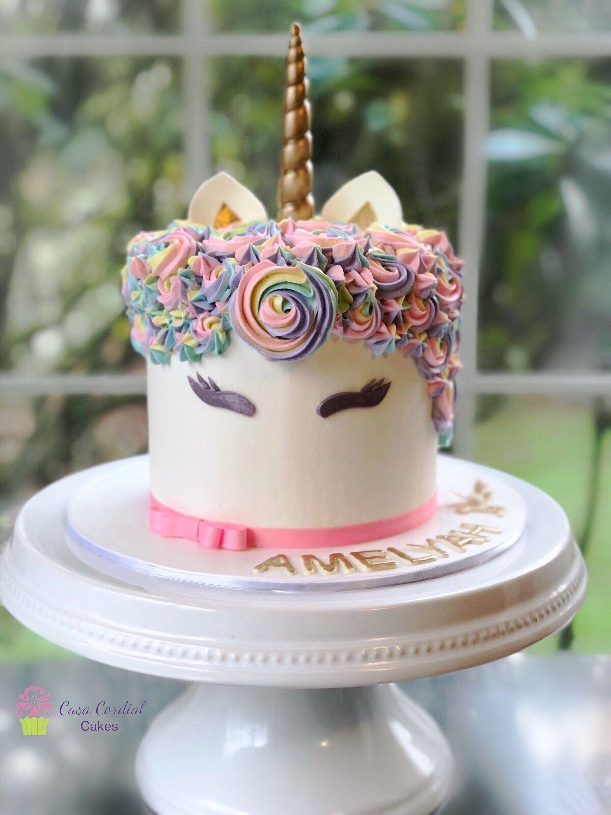 Unicorn Cake 1st Birthday Smash Cake Buttercream Cake
