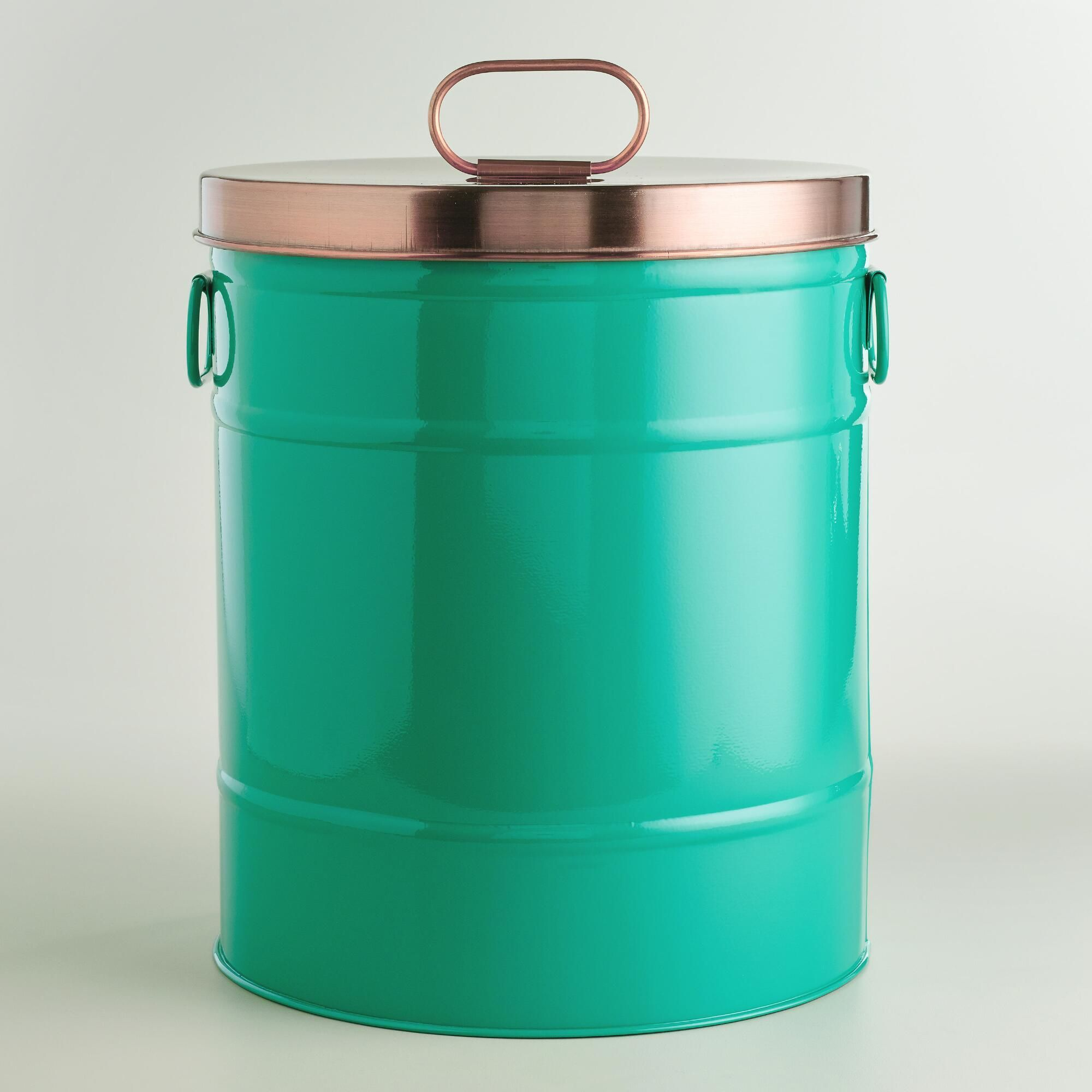 Lagoon Blue Pet Food Storage Container With Scoop - World