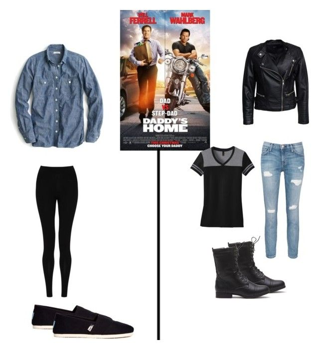 Which are you? by taste-by-teenz on Polyvore featuring polyvore, fashion, style, J.Crew, Sisters Point, Current/Elliott, M&S Collection, TOMS, fun, movie, Good, bad and whichru