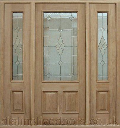 U0027Statelyu0027 Triple Glazed Oak Elegant Entrance Door Set