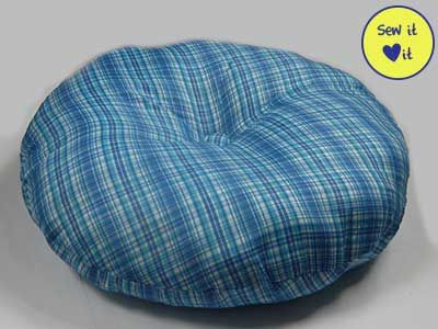 Round Pillow Dog Bed Pattern Dog Bed Sewing Pattern Dog Pillow Bed Round Dog Bed