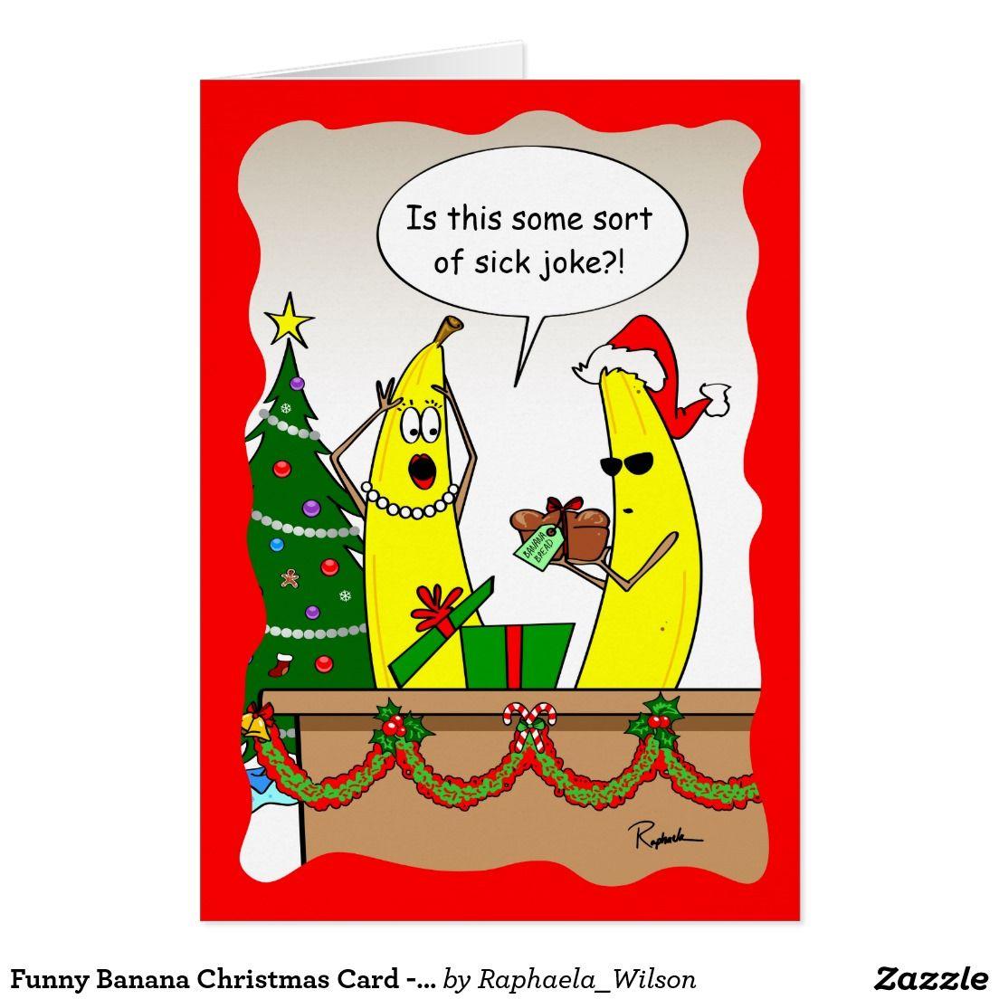 Funny Banana Christmas Card Custom Holiday Cards Bananas And