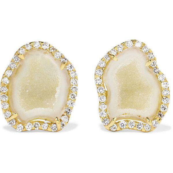 18-karat White Gold Diamond Earrings - one size Kimberly McDonald HI33isXZS