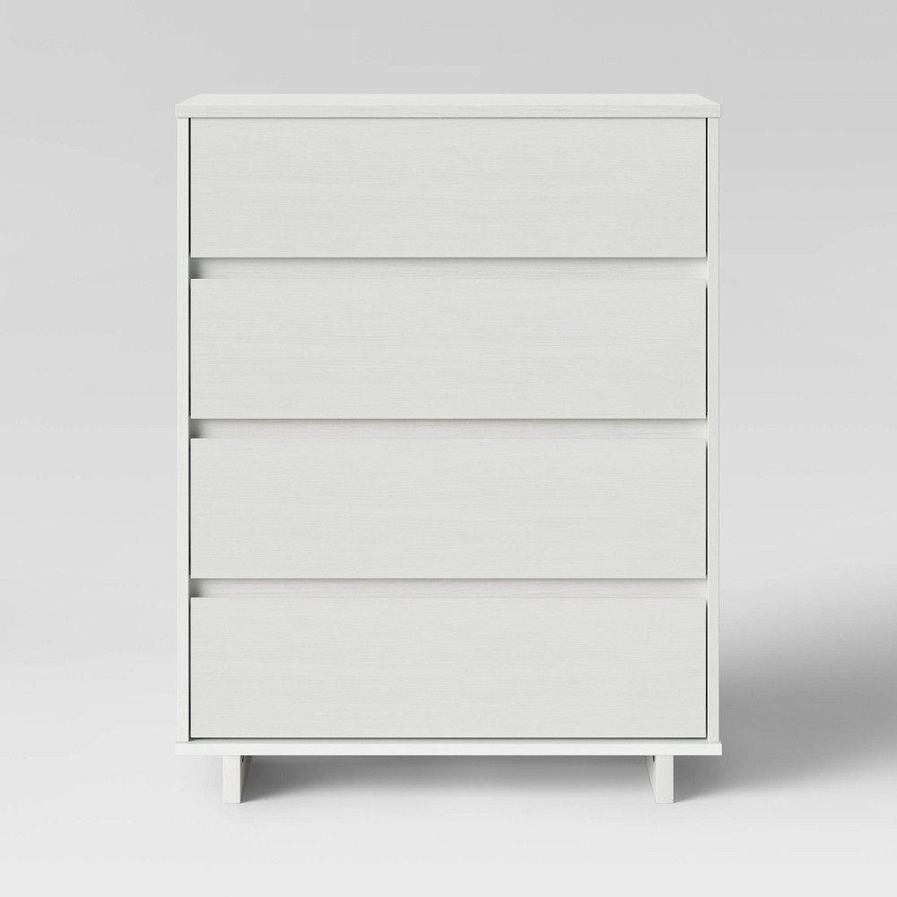 Modern 4 Drawer Dresser White Room Essentials In 2020 White Room Decor Room Essentials 4 Drawer Dresser