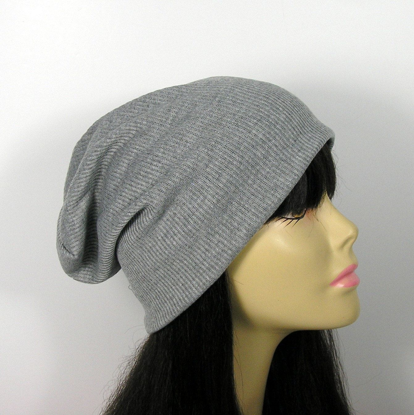4e65f699433 FREE SHIPPING Lightweight Gray Rib Knit Slouch Hat Ribbed Slouchy Beanie  Reversible Slouchy Beanie Grey Slouch Hat Grey Beanie Mens Slouch by  LooptheLoop on ...