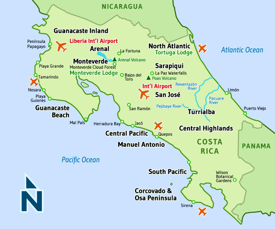 Costa Rica Expeditions Costa Rica Map Costa Rica Map Costa Rica Dream Vacations