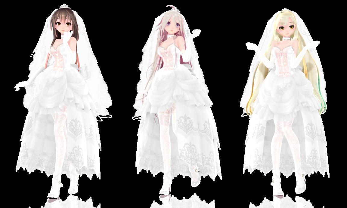 TDA Bride Models {DL} by HarukaSakurai deviantart com on
