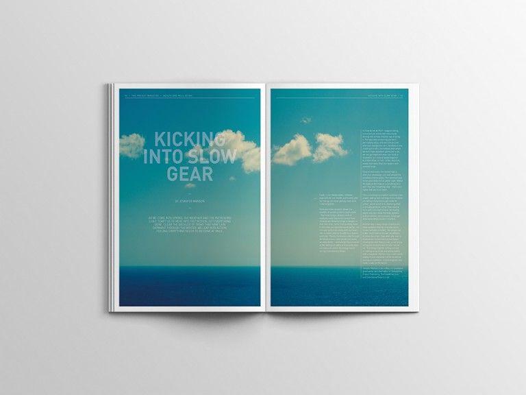 Project Magazine. Editorial Layout. Magazine Design