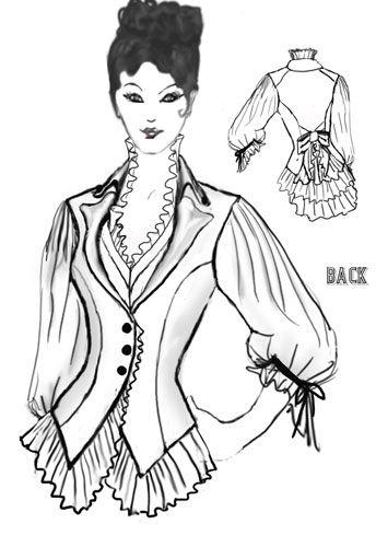 3d459a402bd Steampunk Blouse design By Amber Middaugh  Victorian  Steampunk ...